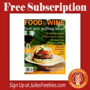 Free food and wine magazine subscription freebies list for Free home magazines by mail